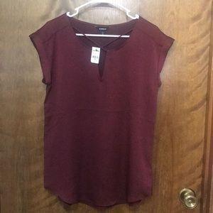 NWT Satin Cross Front Gramercy Top